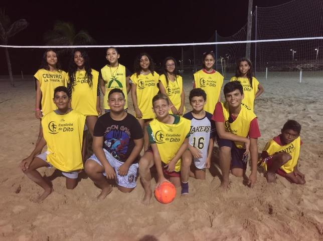 Das Beachsoccer-Team des CENTRO LA SIESTA